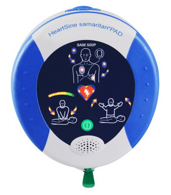Défibrillateur Samaritan PAD 500P allumé