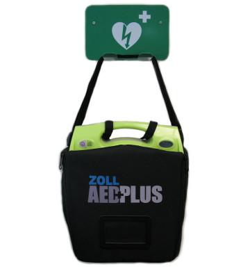 Support mural métallique d'intérieur + ZOLL AED Plus