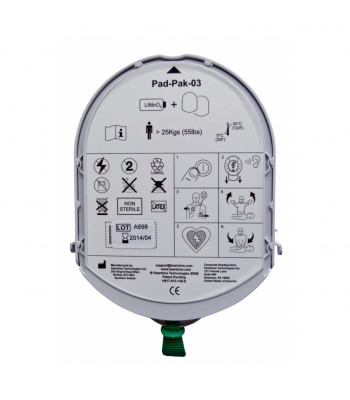 Combiné batterie électrodes adultes PadPak