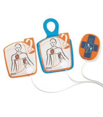Electrodes adultes avec Capteur RCP pour Cardiac Science Powerheart G5