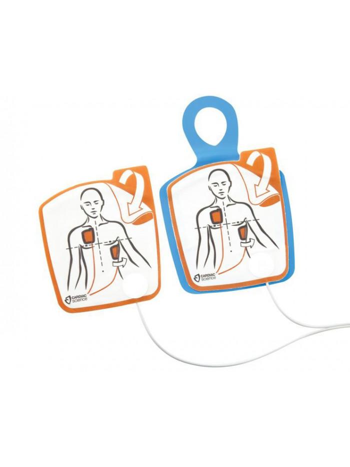 Electrodes adultes sans capteur RCP pour Cardiac Science Powerheart G5